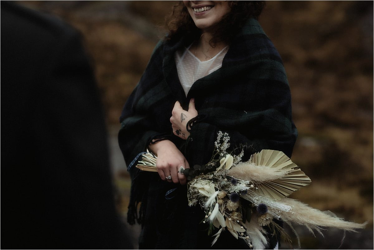 bride during her elope to scotland