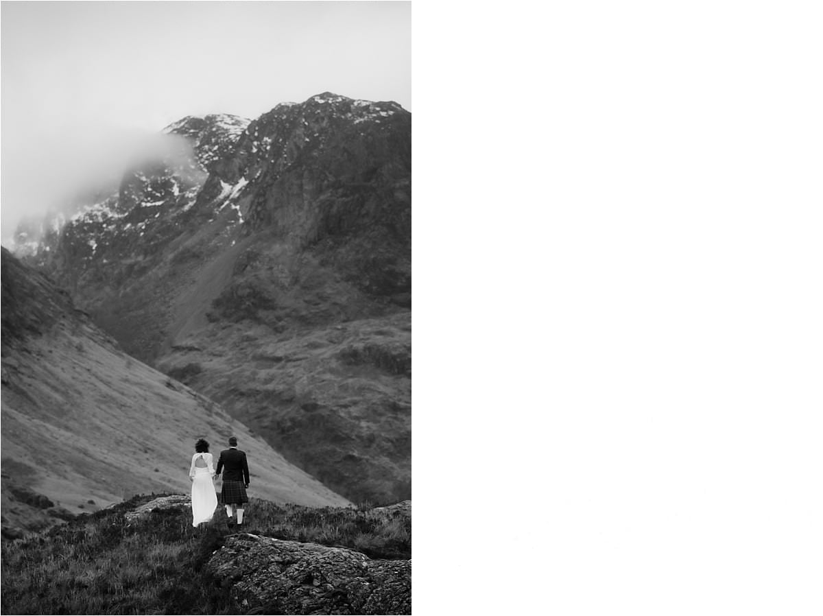 Scottish highlands elopement