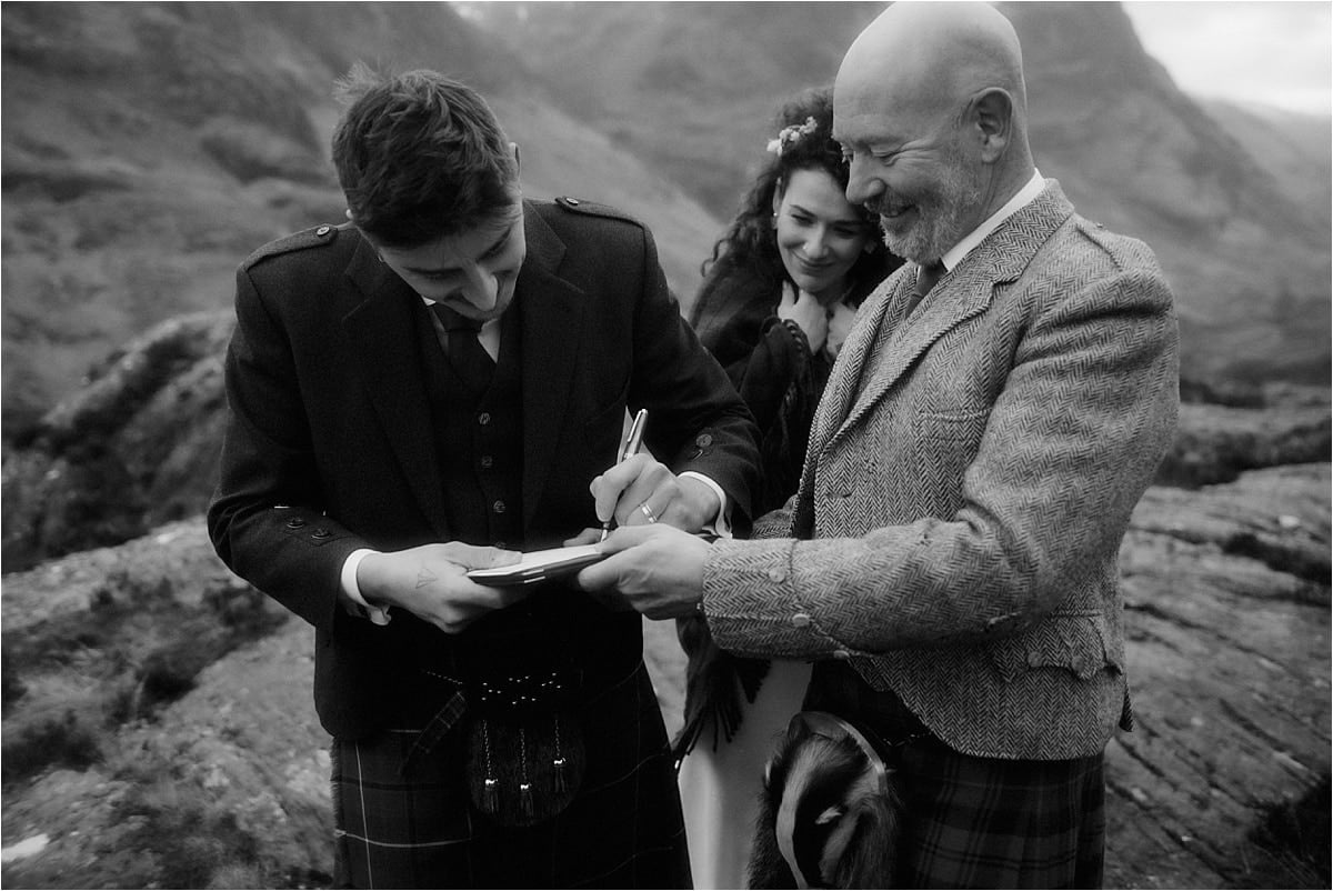 real Scottish elopement in Glencoe