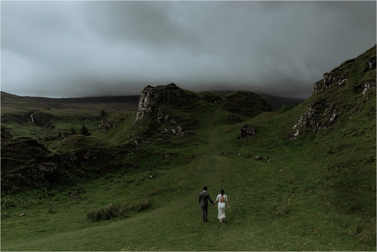 elope scotland fairy glen wedding isle of skye