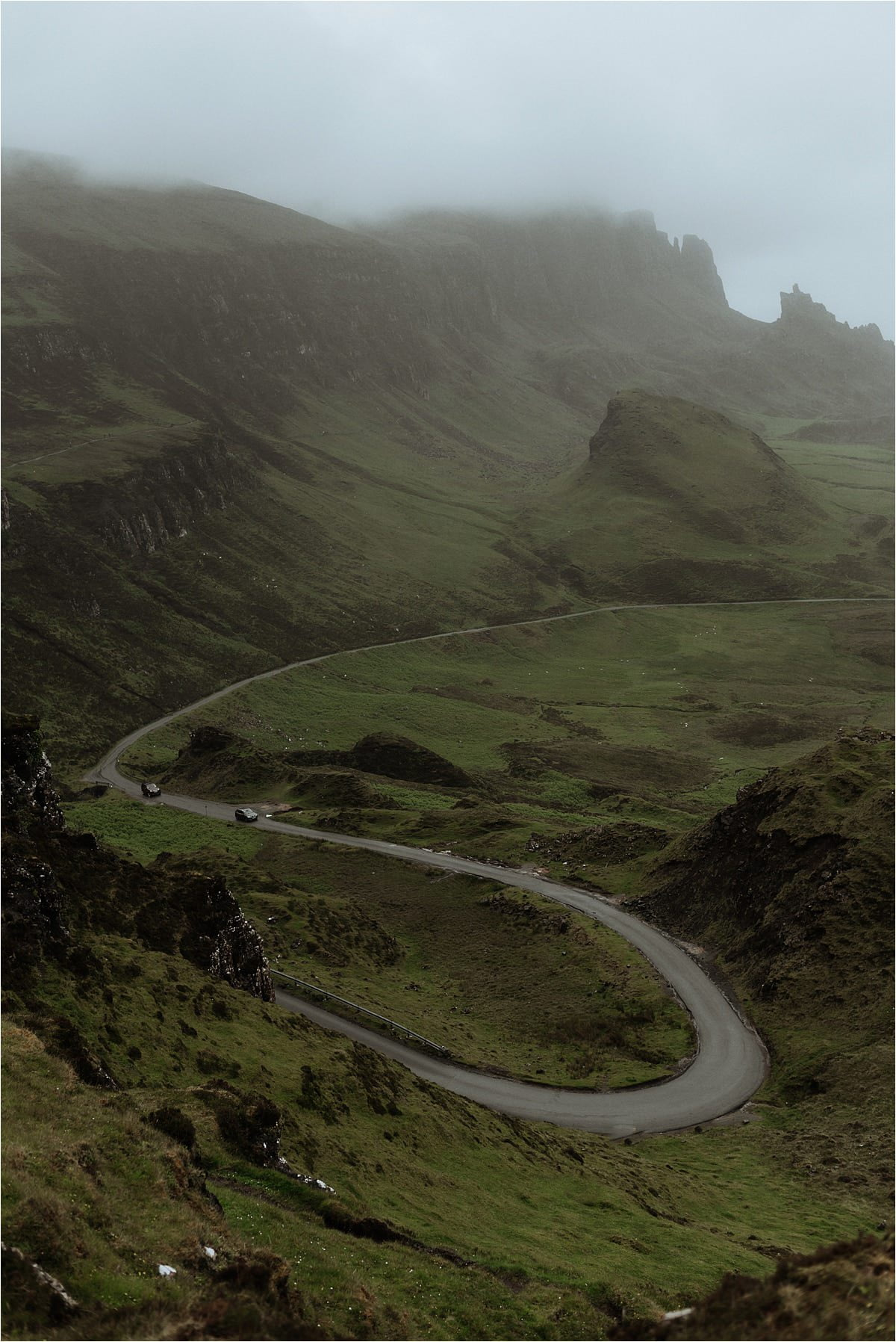 beautiful shot of the quiraing on th eisle of skye