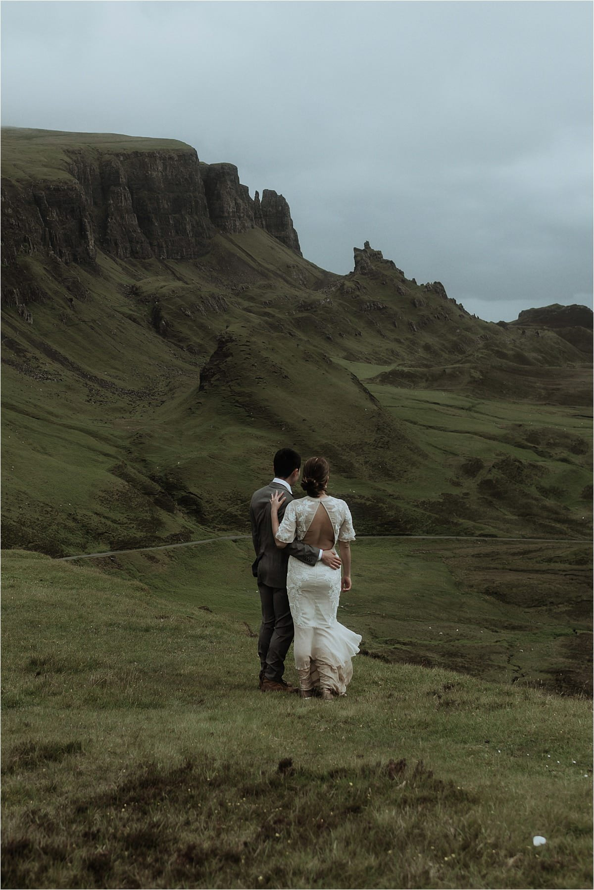 a couple during thier isle of skye elopement