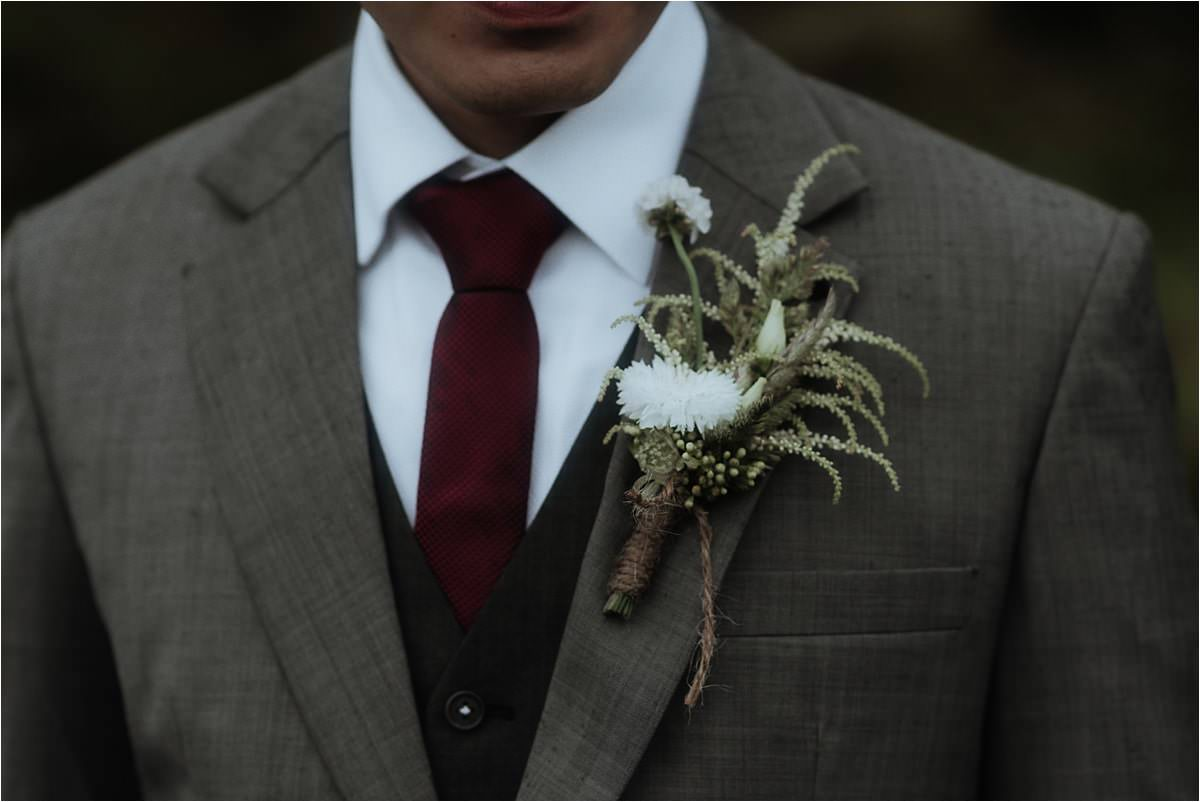 groom and wild gorse flowers