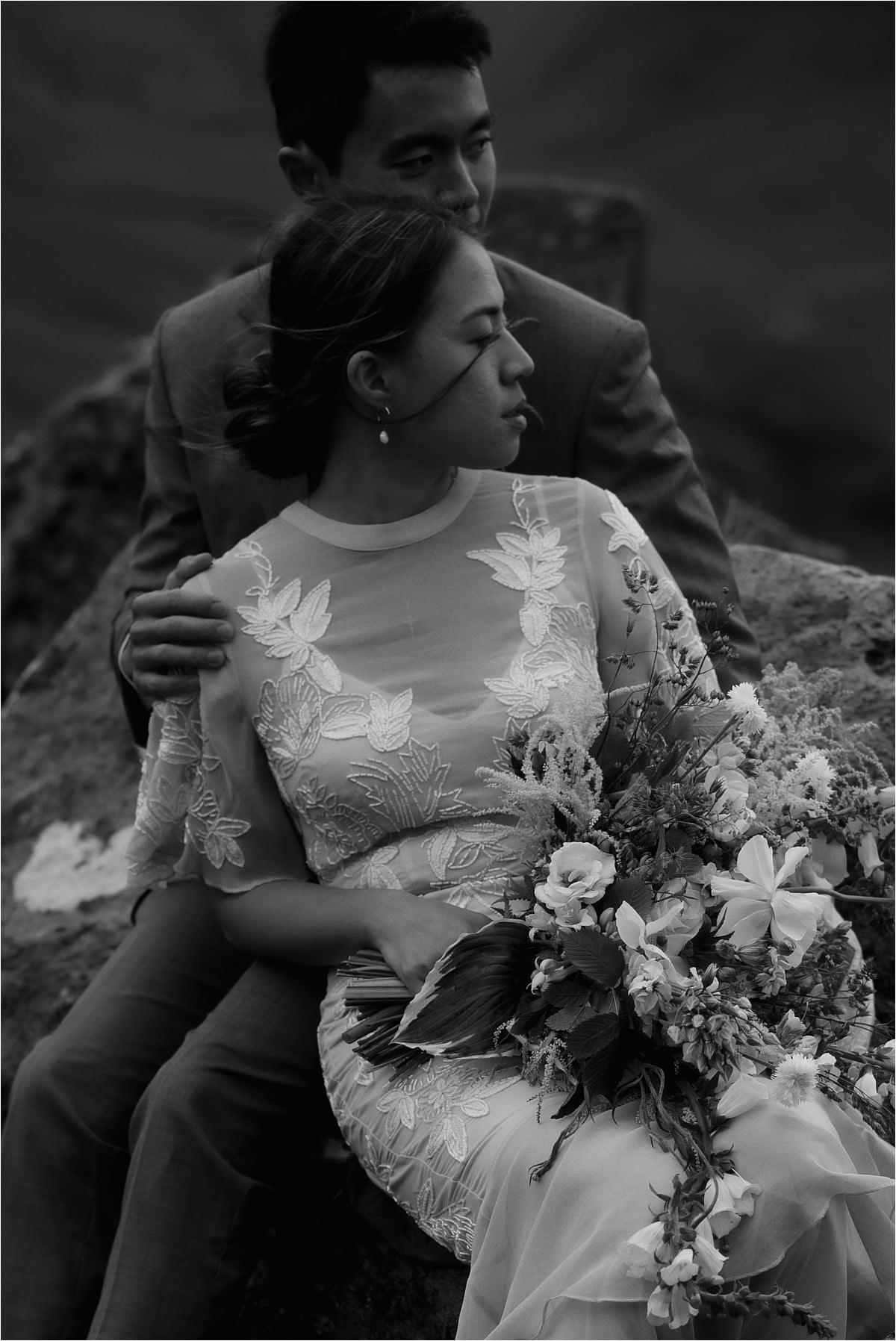 a couple portrait on the isle of skye elopement