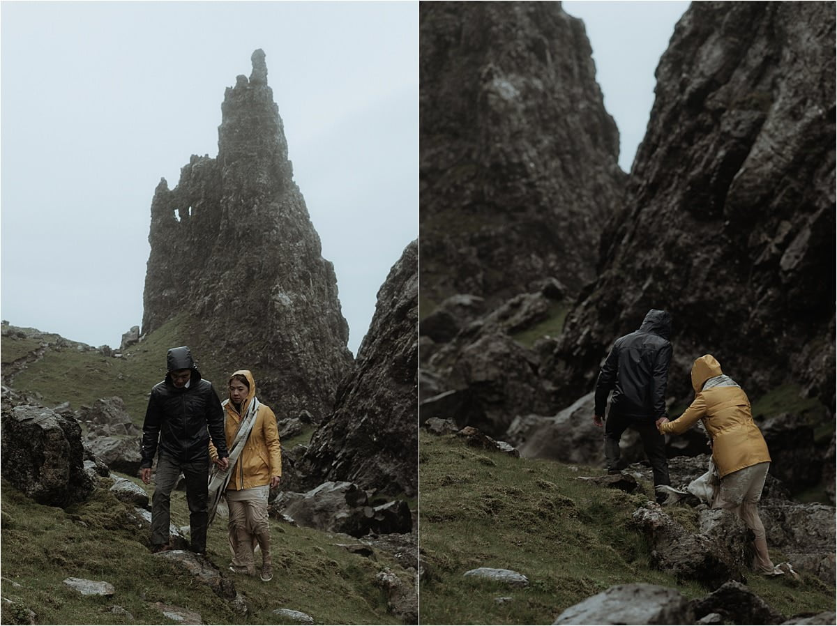 couple waking in skye