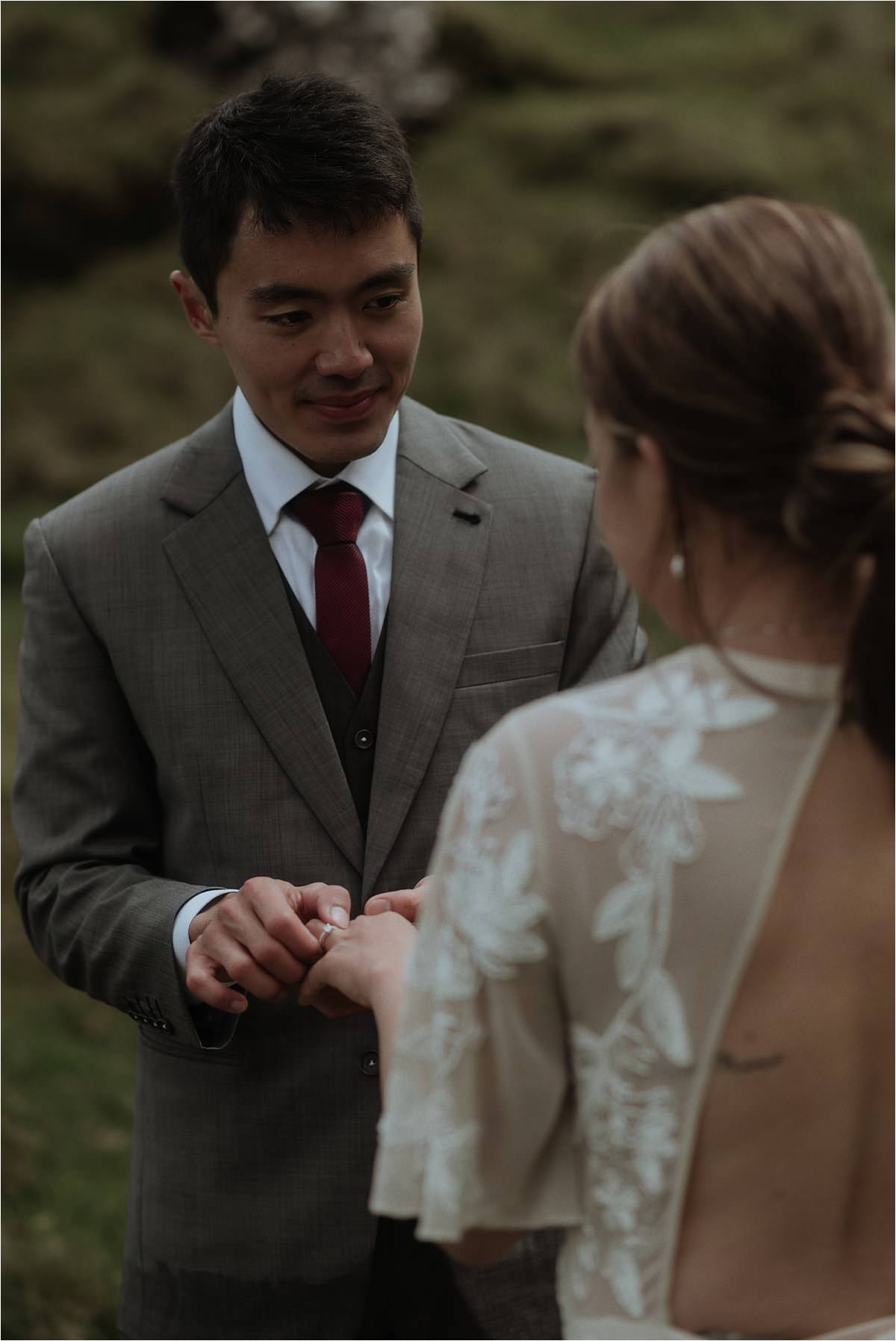 scottish elopement ceremony with rings