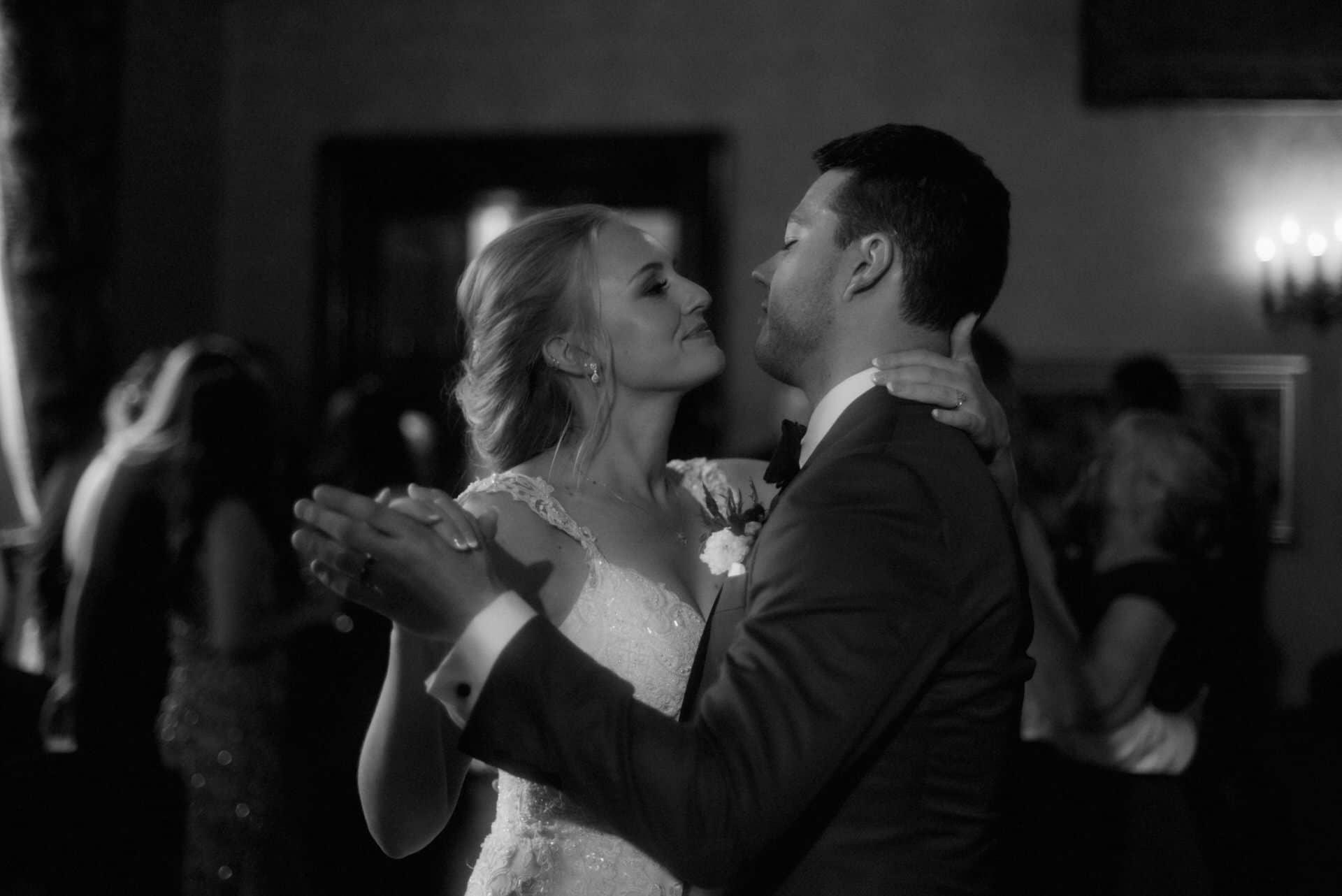 scottish wedding dalhousie castle first dance couple