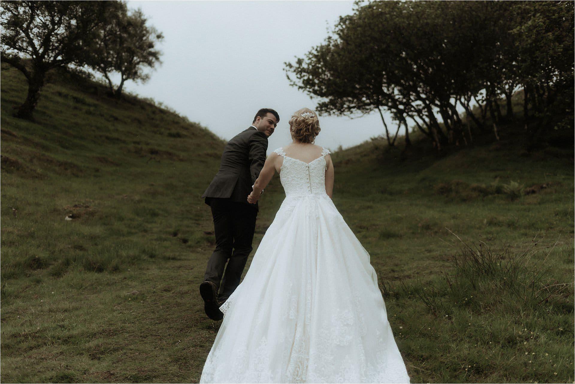 scotland wedding photographer with couple on skye