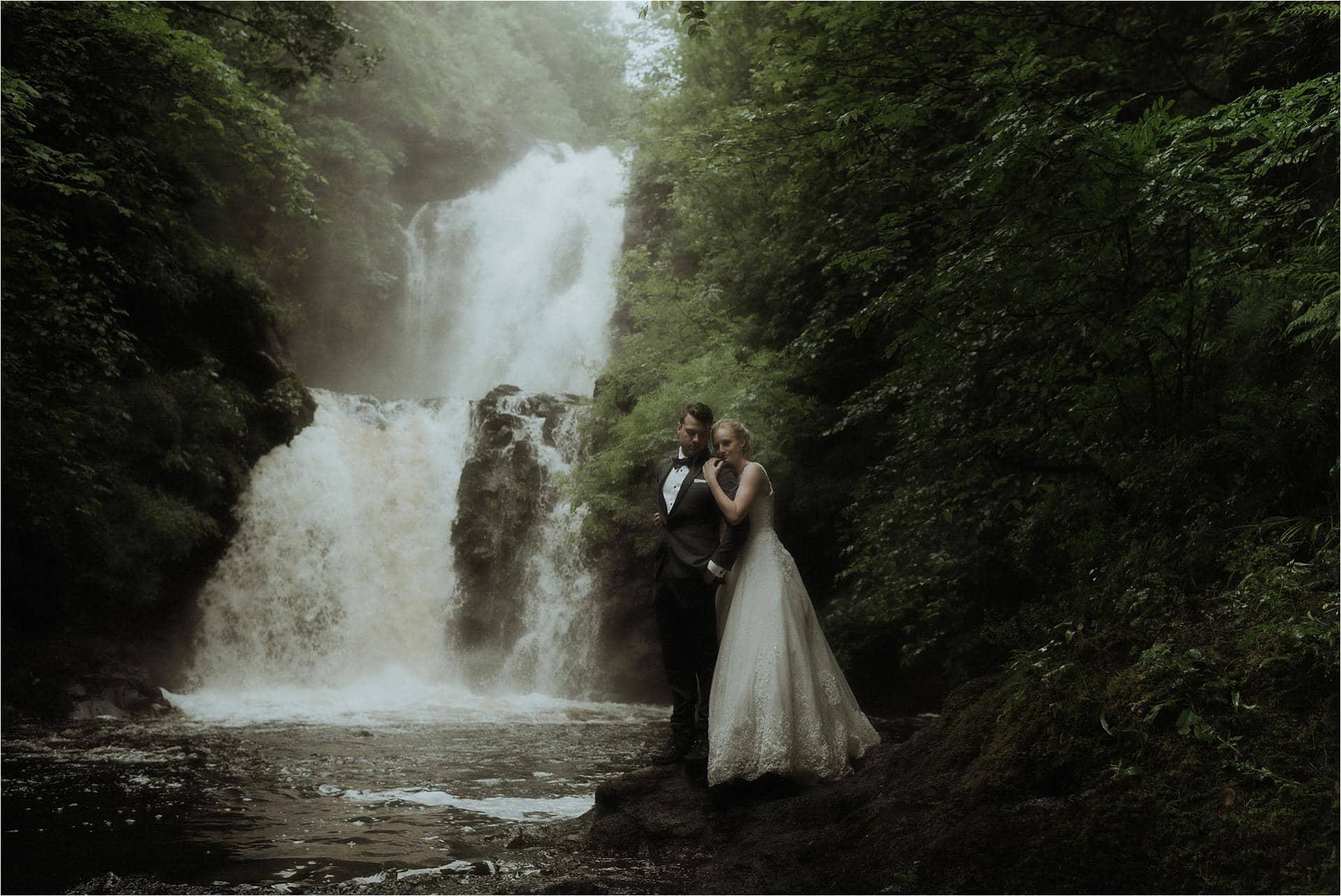 isle of skye elopement at raa falls