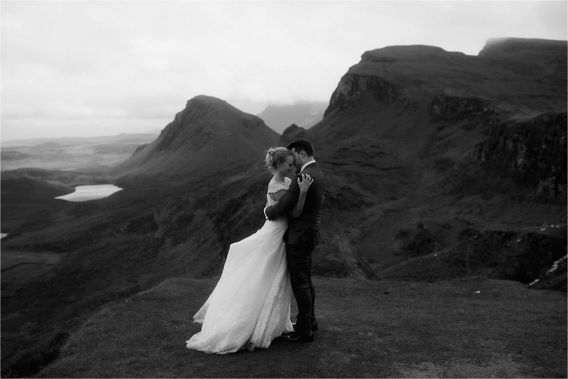 isle of Skye couple married at the Quiraing