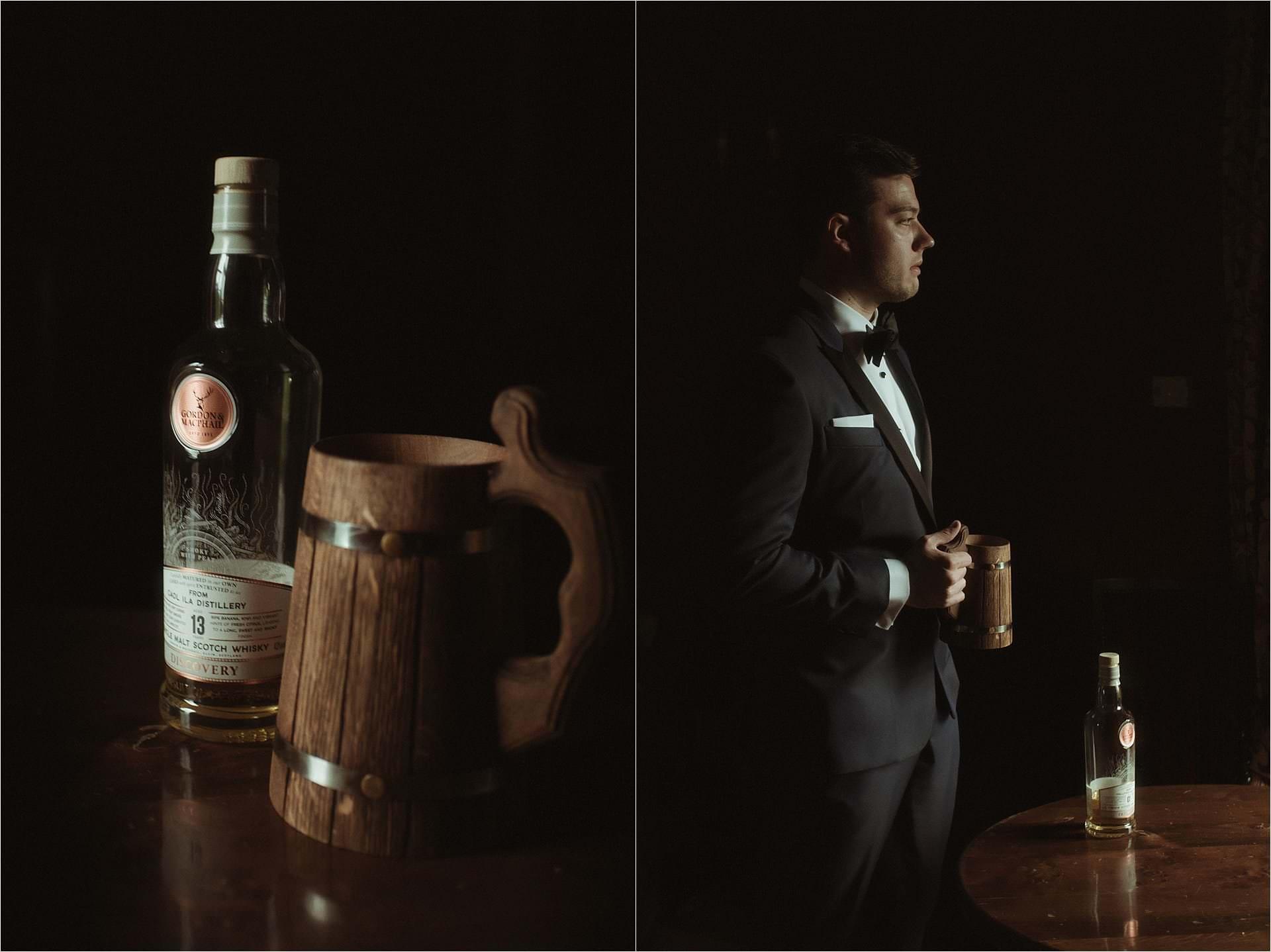 scotland wedding photographer groom getting ready