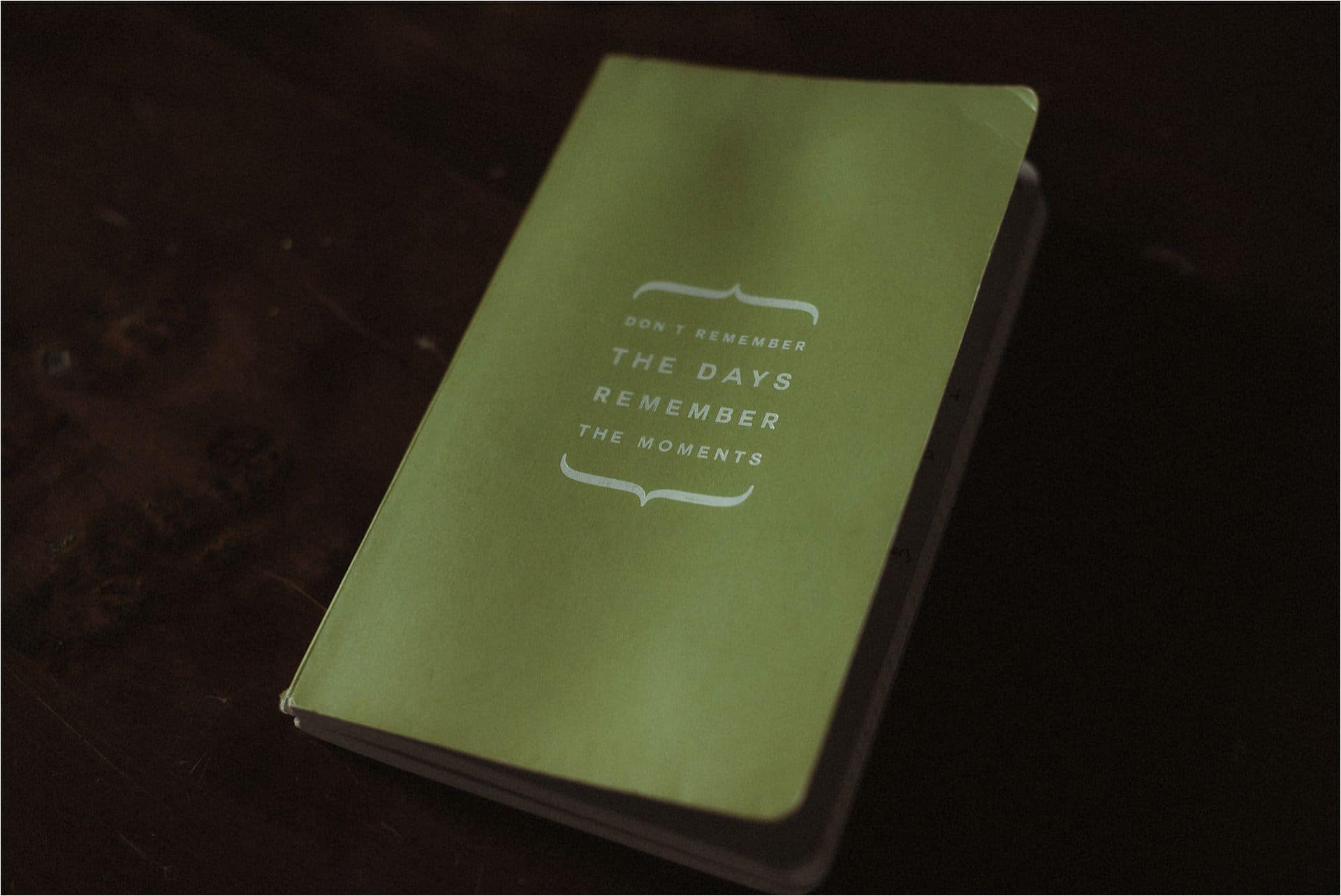 notebook at a wedding