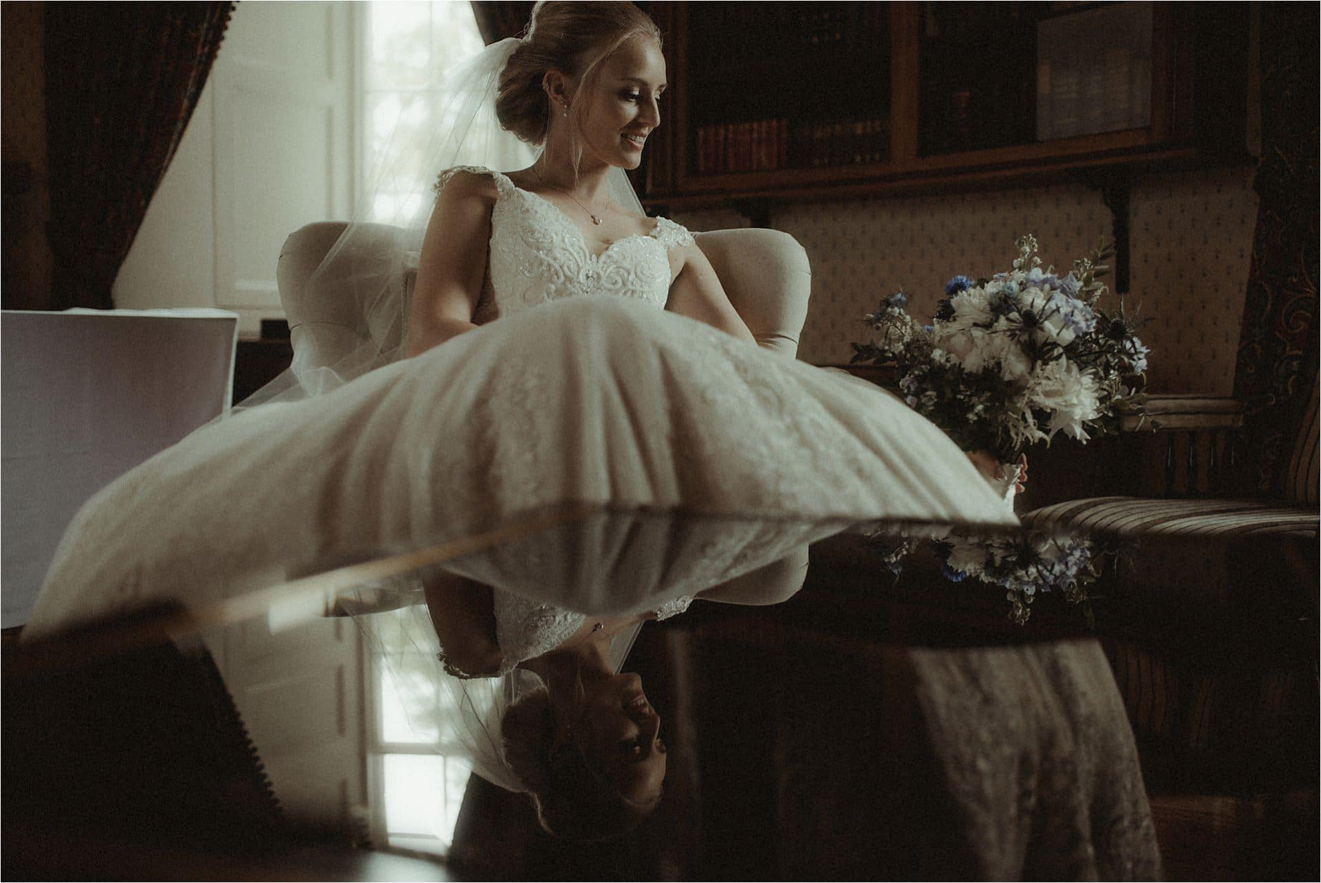 bride at scottish castle wedding