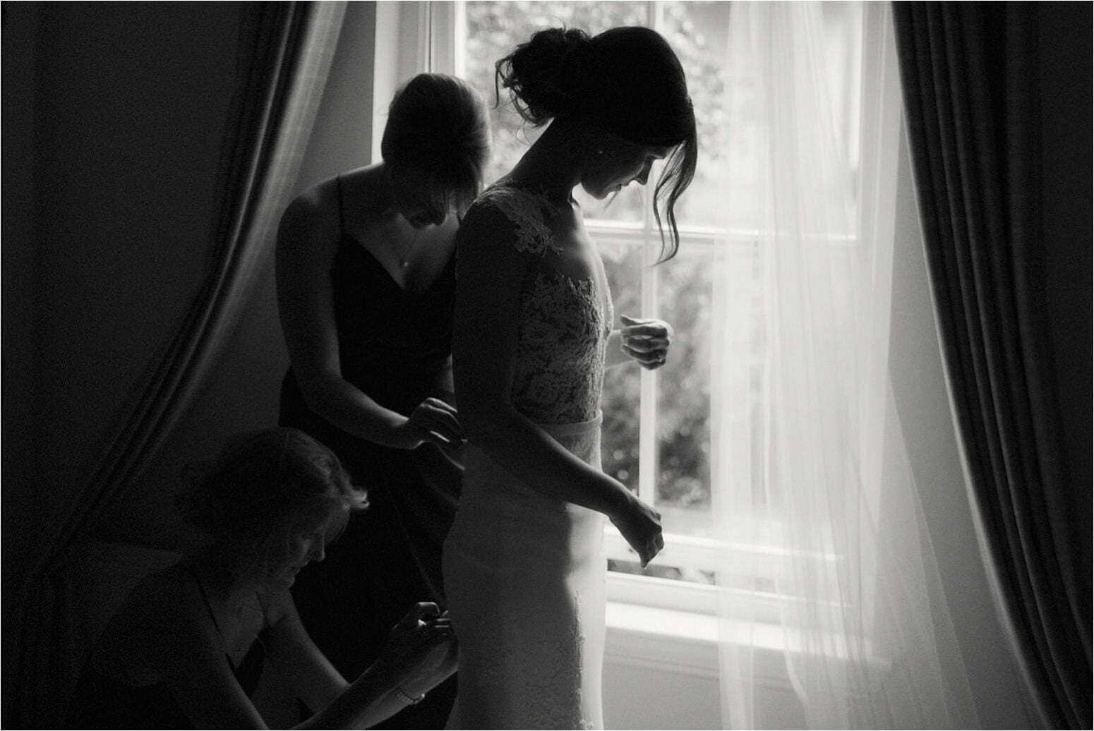 bride prep in scotland