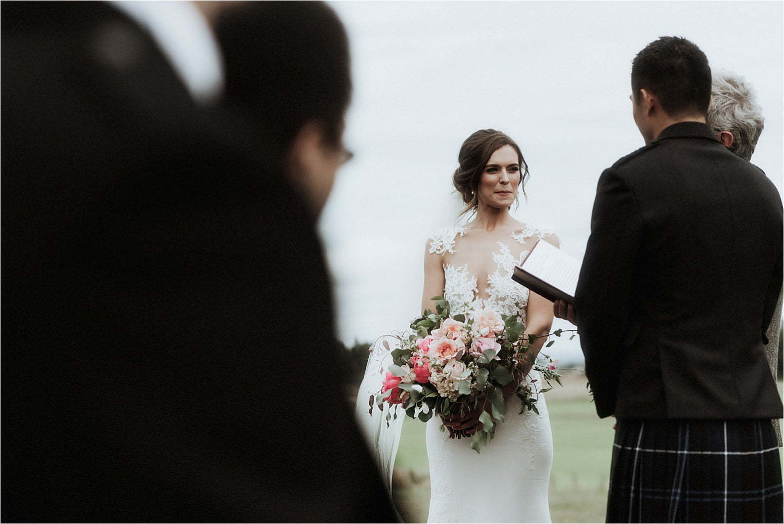 Scotland wedding photographer at bachilton barn