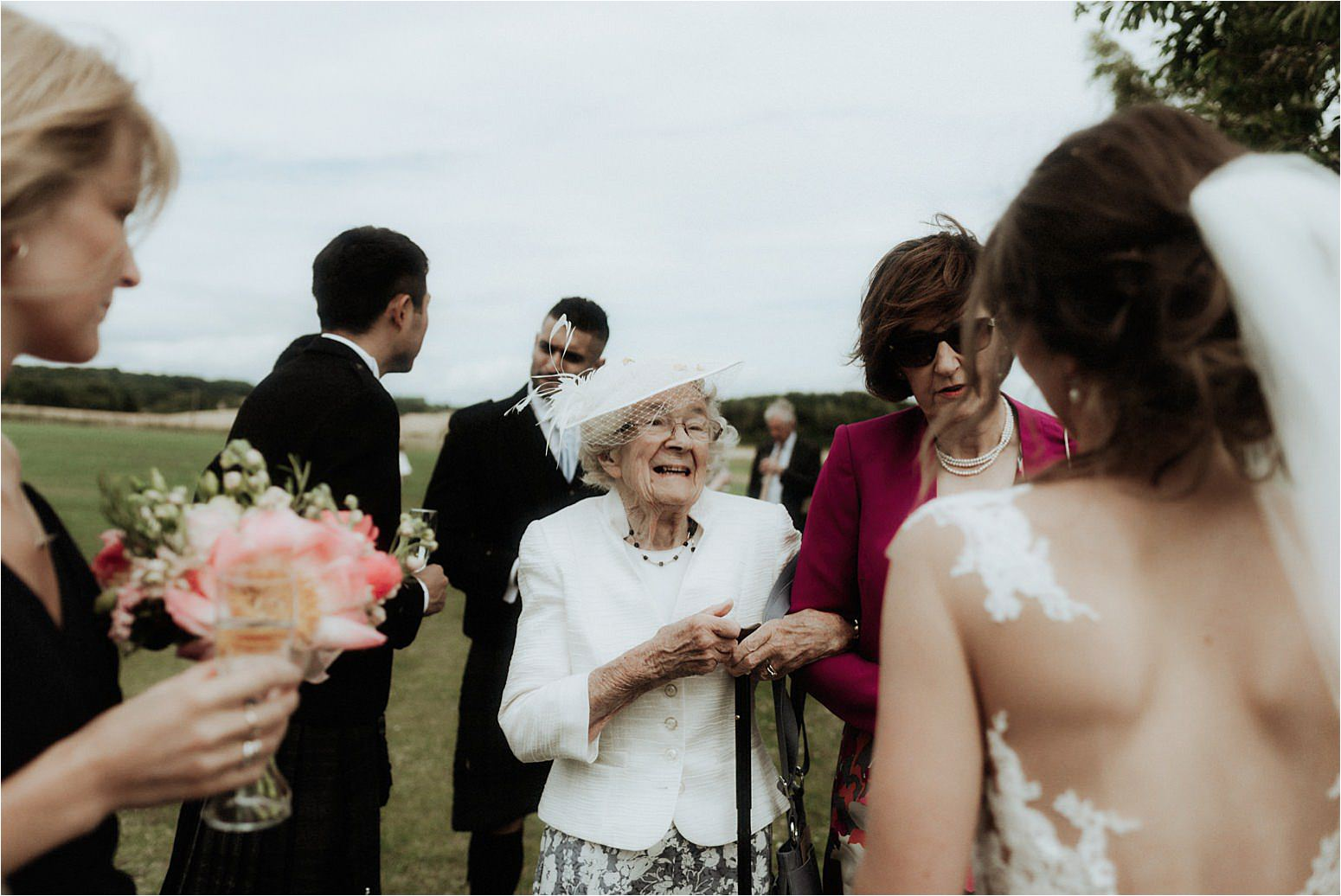 scottish wedding at bachilton barn candid guest
