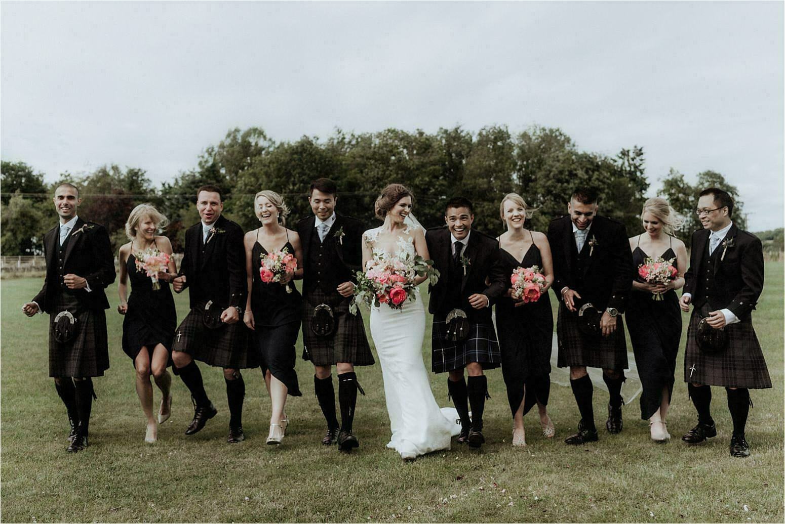 wedding at bachilton barn wedding group shot