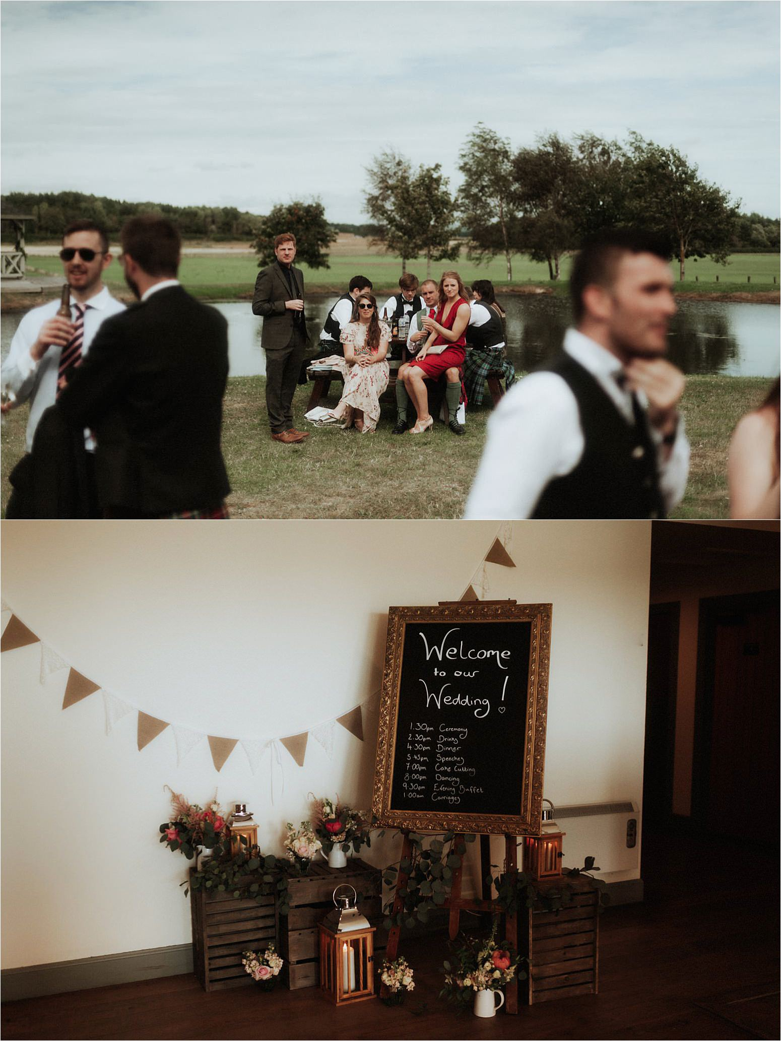 wedding at bachilton barn