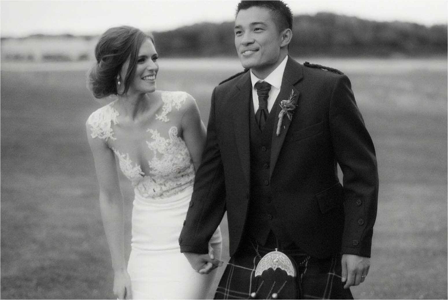 bride and groom during a wedding in scotland