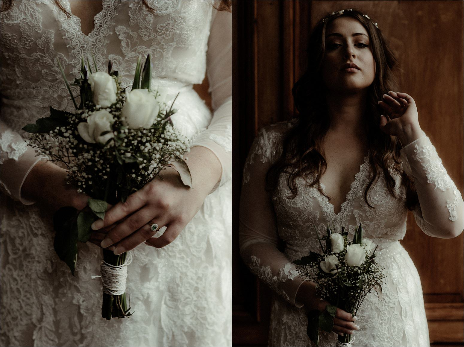 bride portrait during elopement in scotland