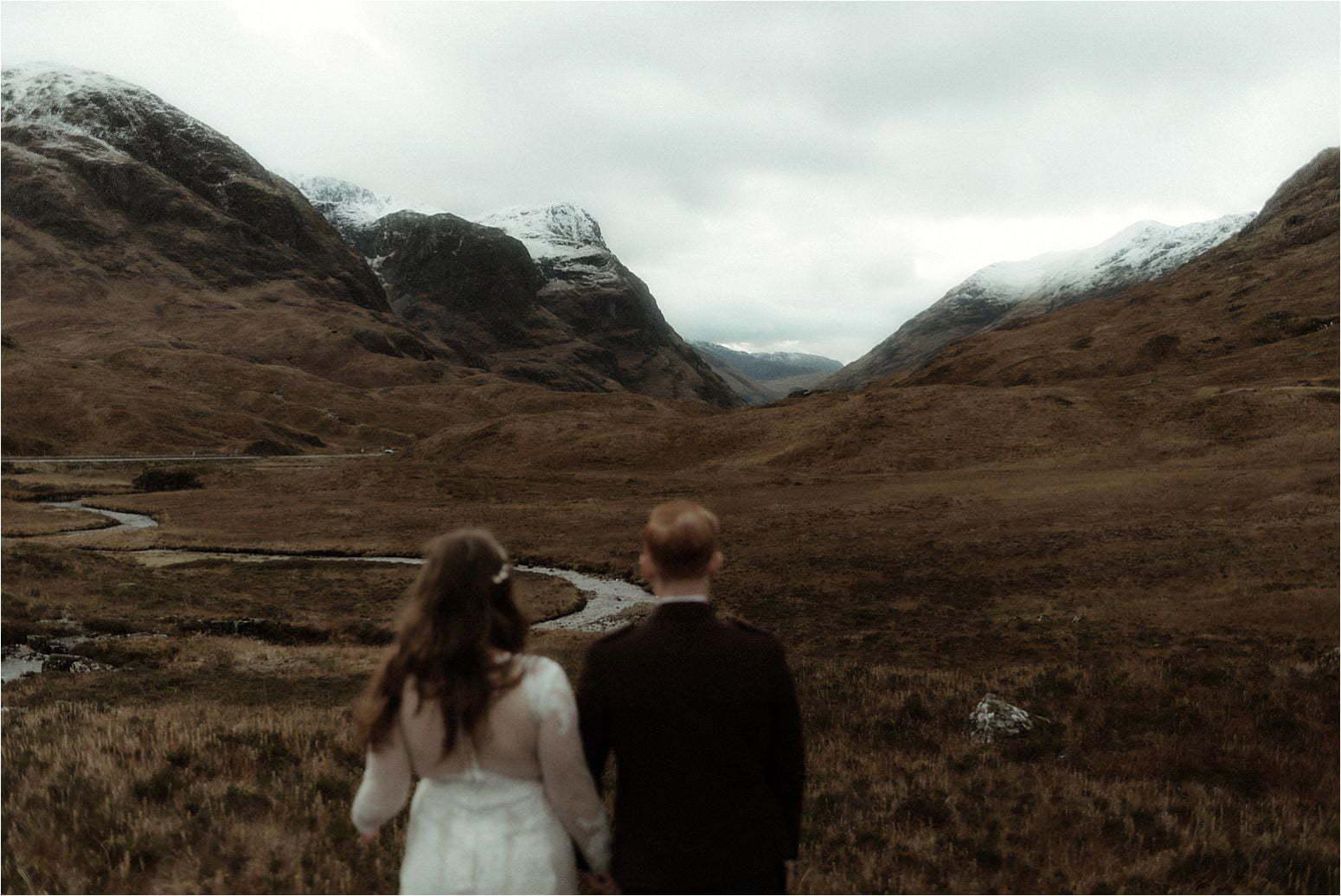 elopement in glencoe couple
