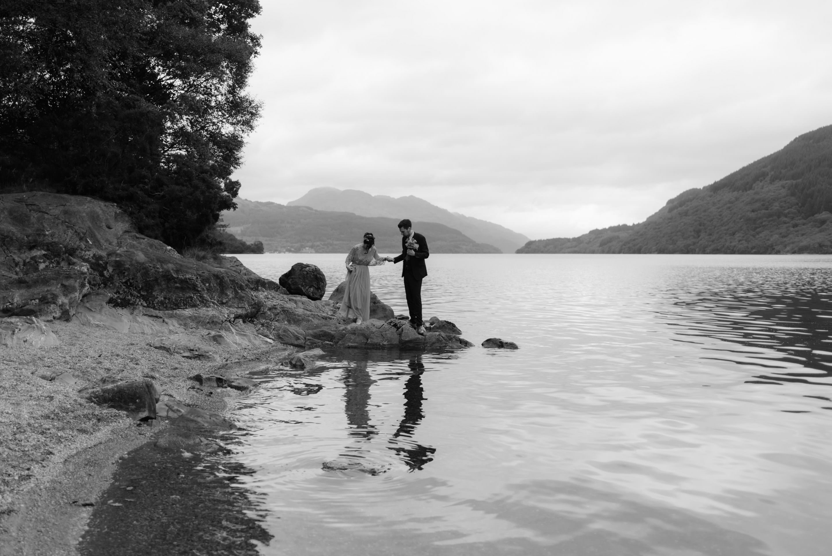 loch lomond elopement couple