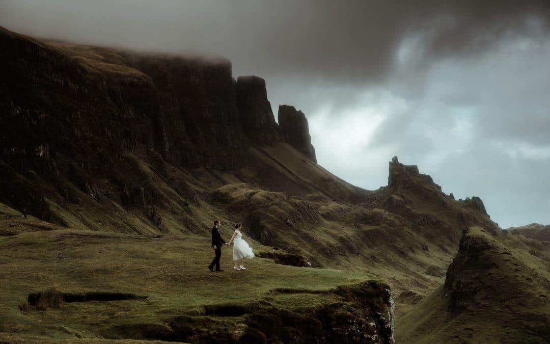 Scotland wedding photographer on the isle of Skye with couple