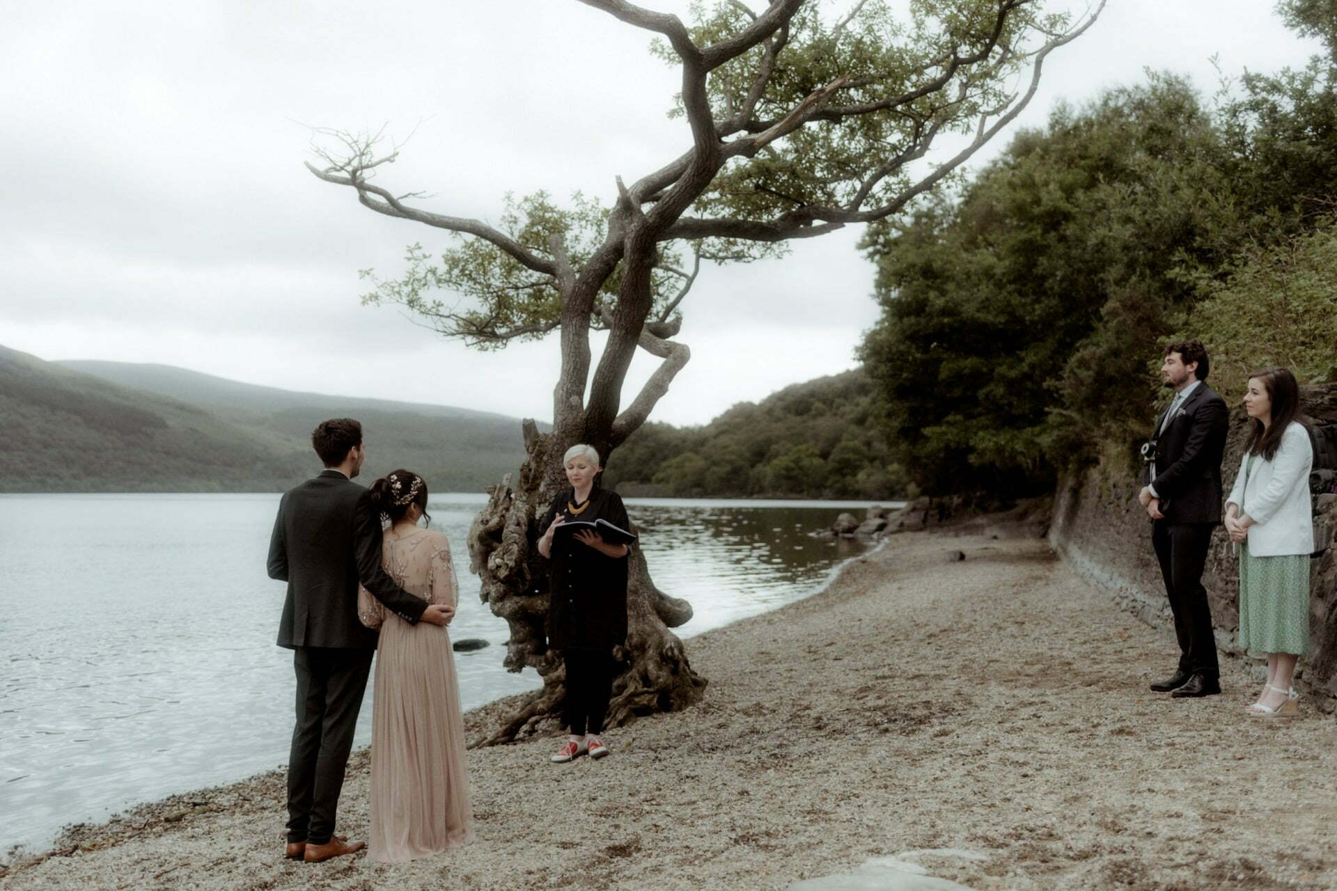 coupe being married at Loch Lomond