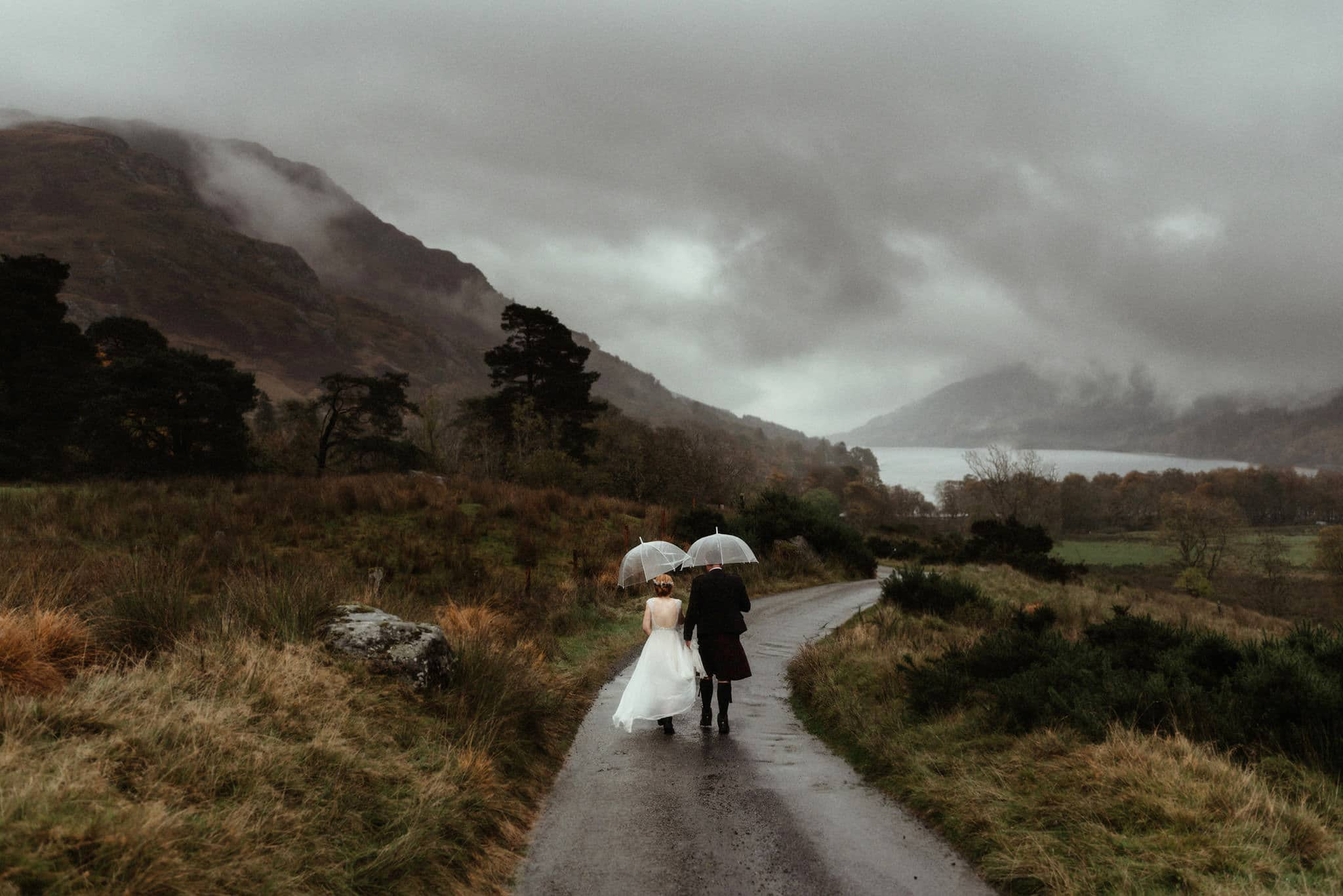 scotland elopement photographer at monachyle moor