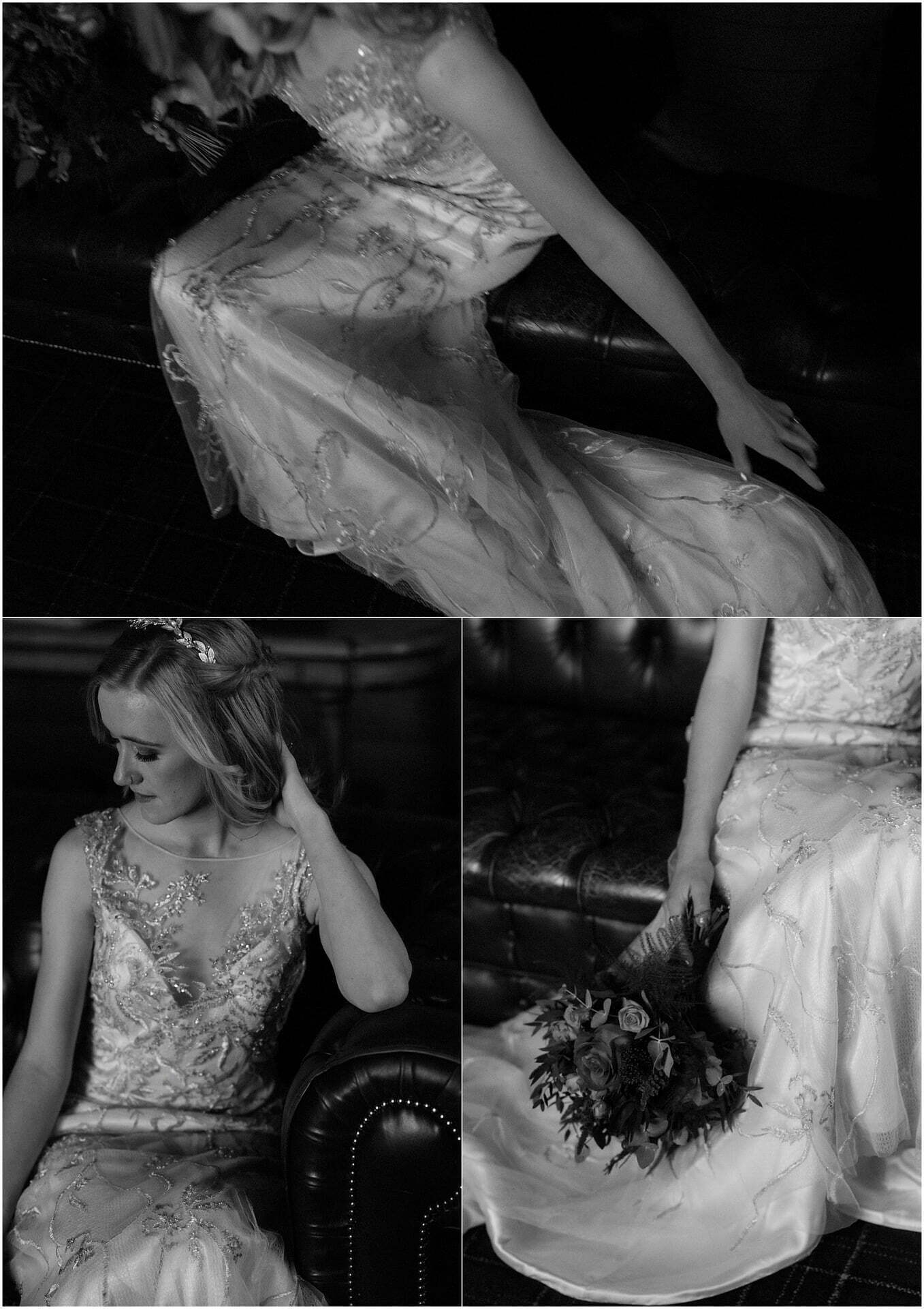 bride getting ready for her Scotland elopement