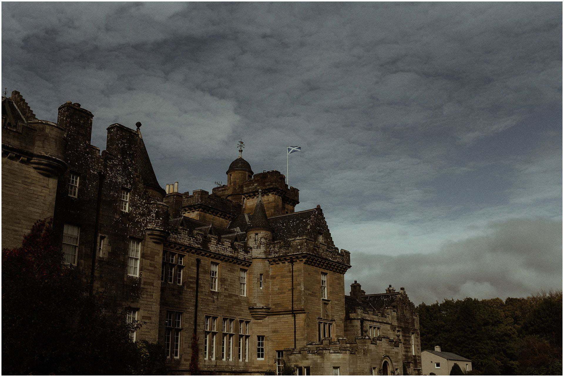 glenapp castle in the autumn